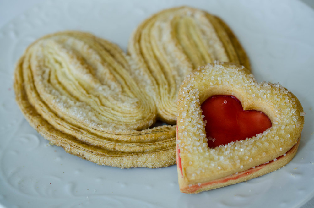 Palmier, Strawberry Heart Cookie