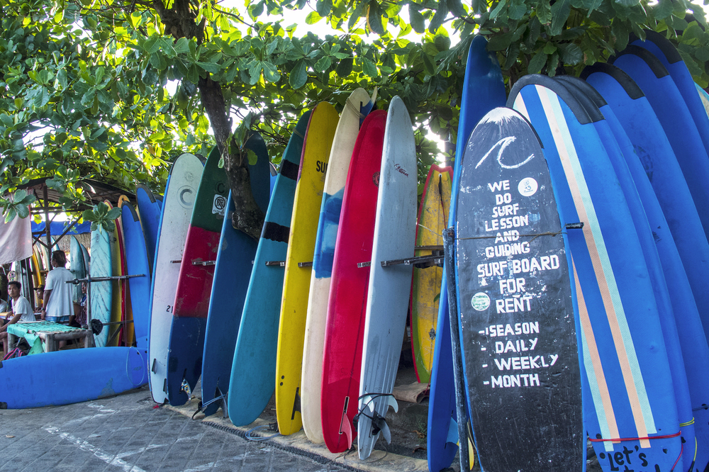 Surf boards rental at Old Men