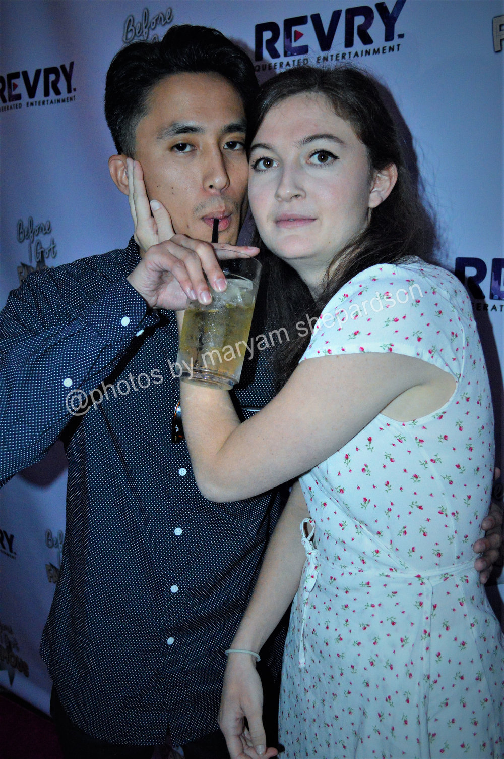 Actors Camille Wormser and Anthony Ma