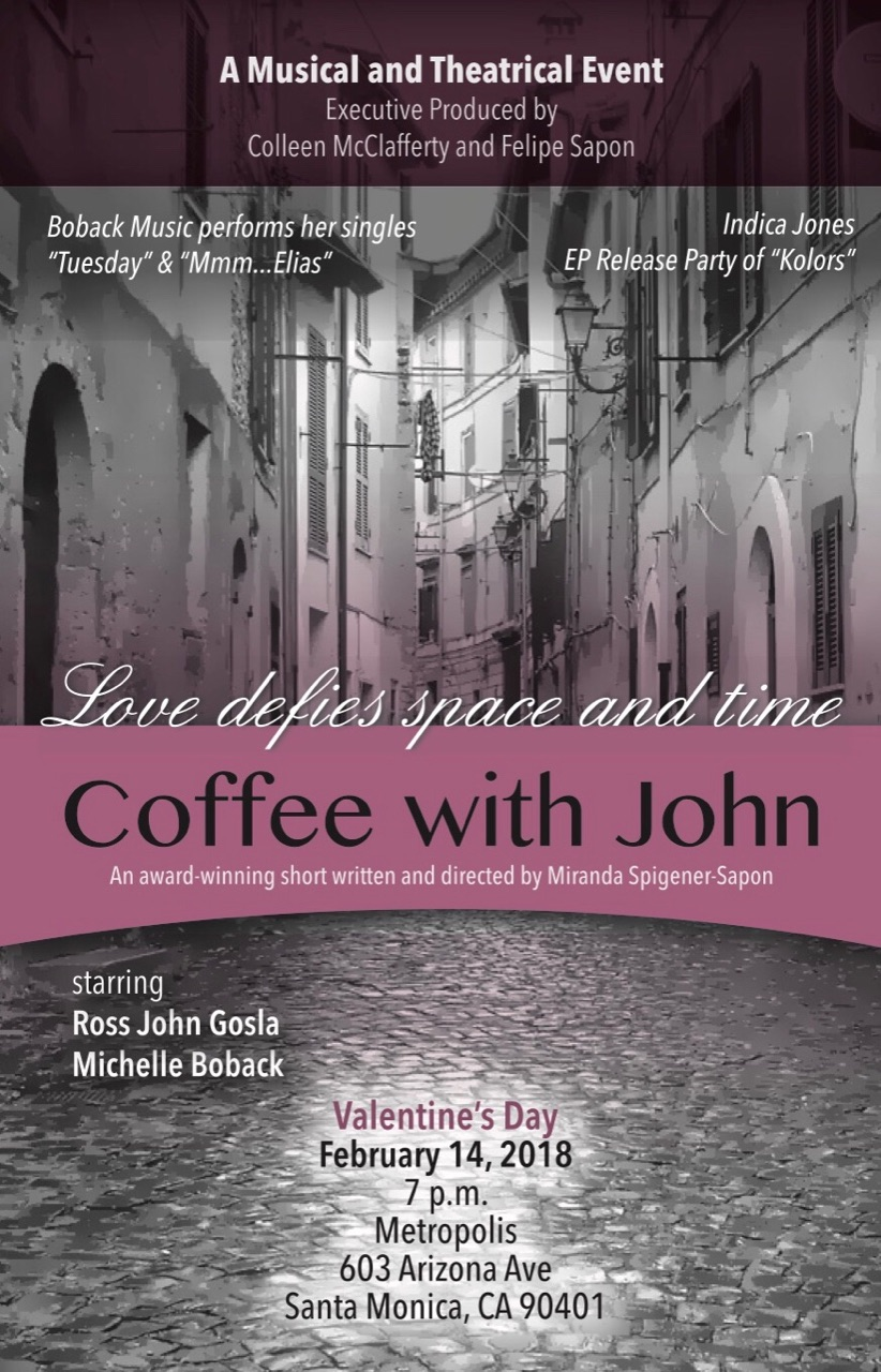 Event flyer coffee with john