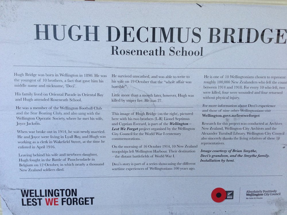Information about Hugh (Decimus) Bridge