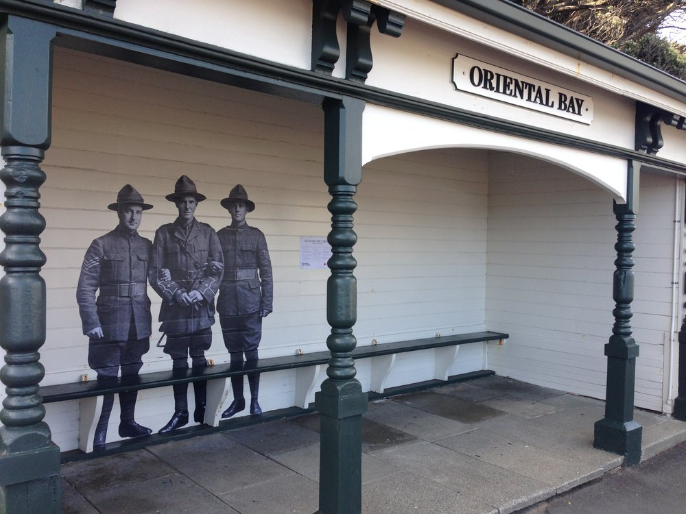WWI Wall Stories in Oriental Bay