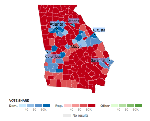 Turning Georgia Blue Democrats Aim To Seize Three Key Seats In 2018