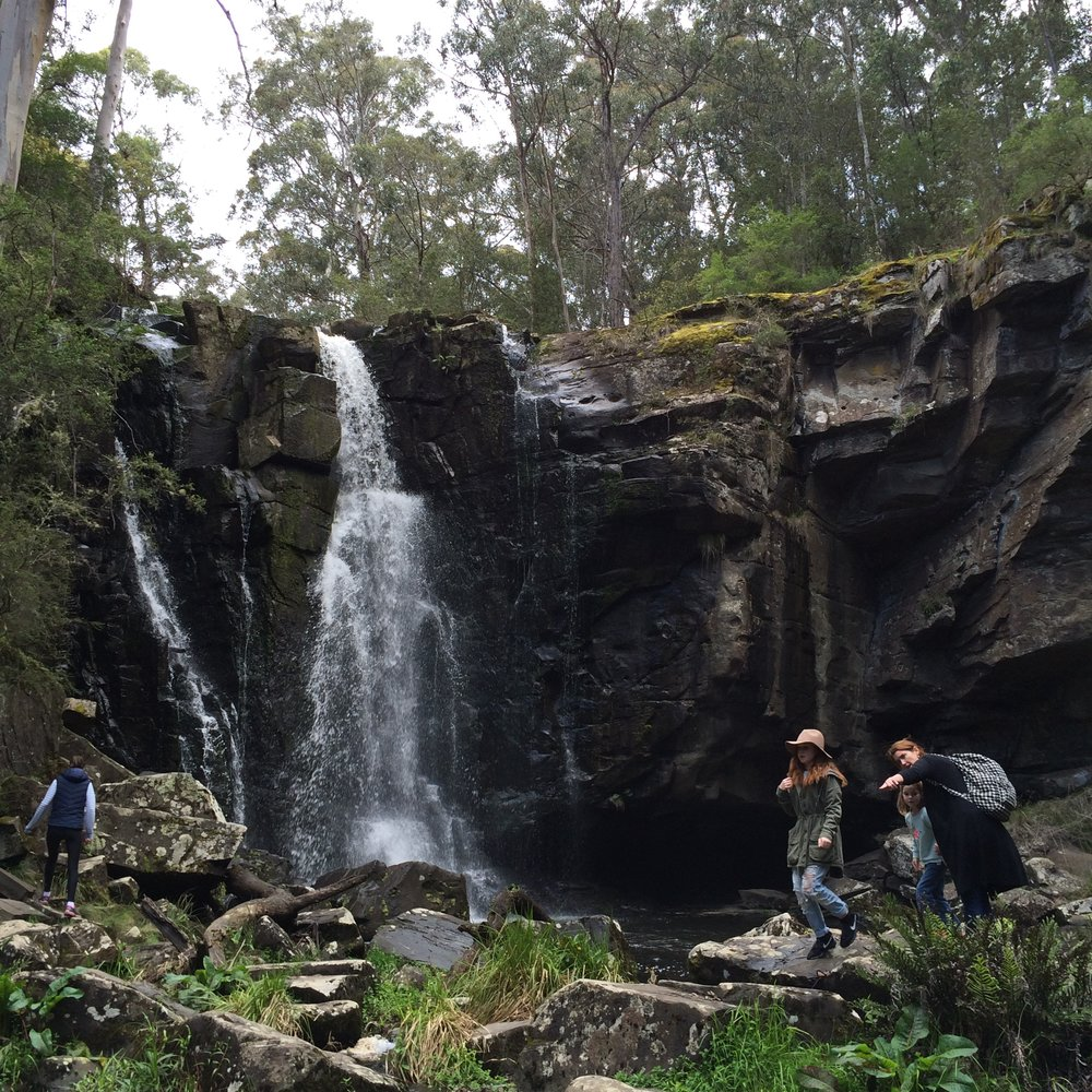 Lisa exploring with her family in Otway Forest Park, Victoria, Australia