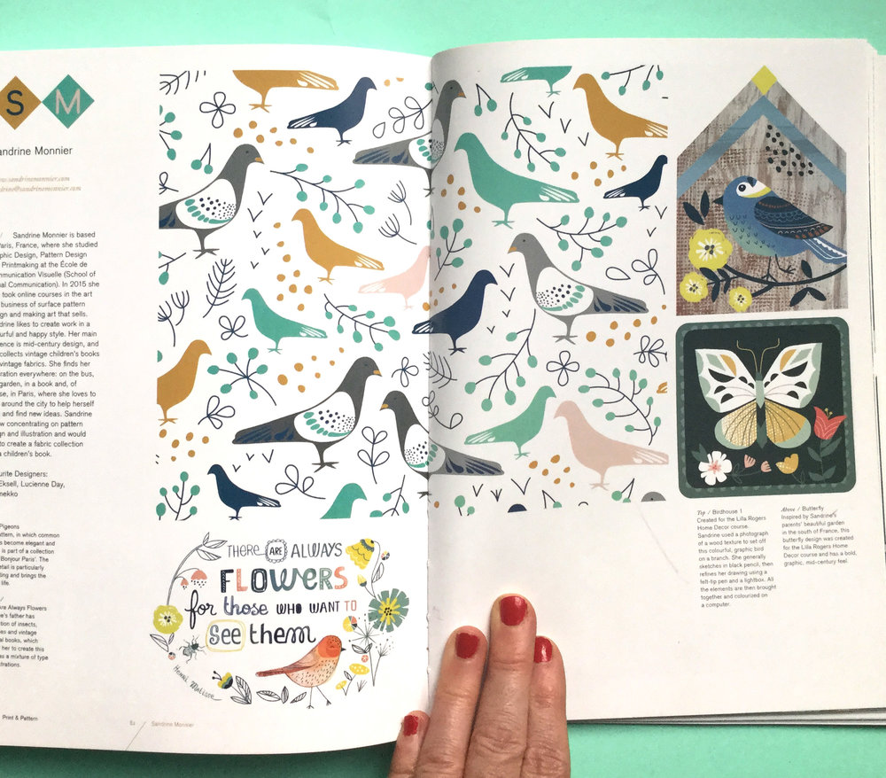 Sandrine's work in Print and Pattern Nature book.