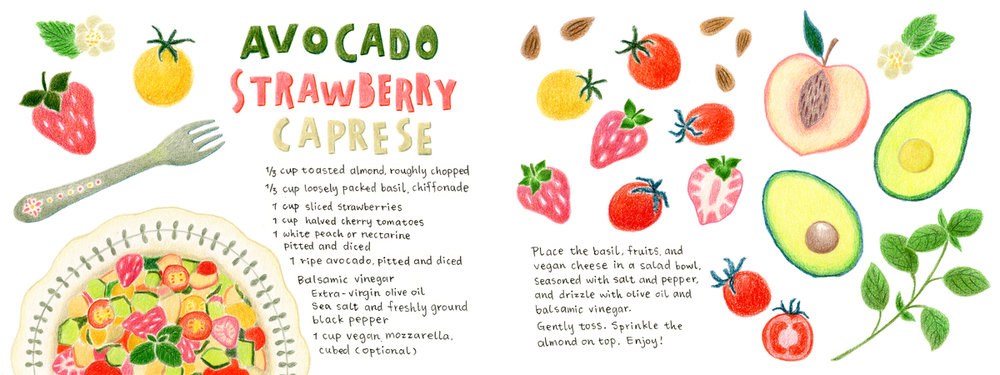 Anaïs Lee's Avocado Strawberry Caprese