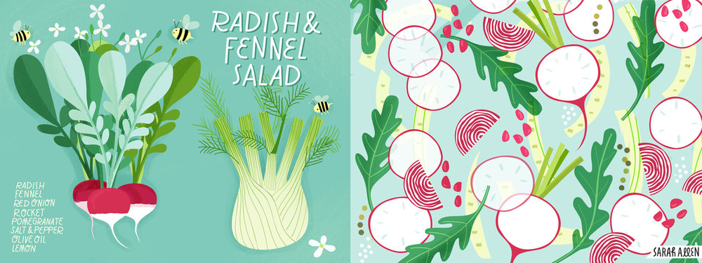 Sarah Allen's Radish and Fennel Salad