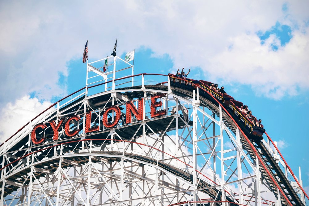 Ride the iconic Cyclone together at Coney Island