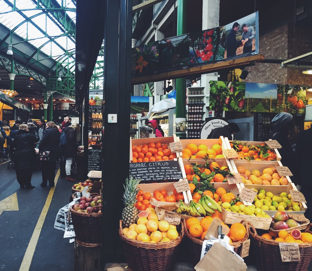 Borough Market offers a wide variety of produce and unique food options.