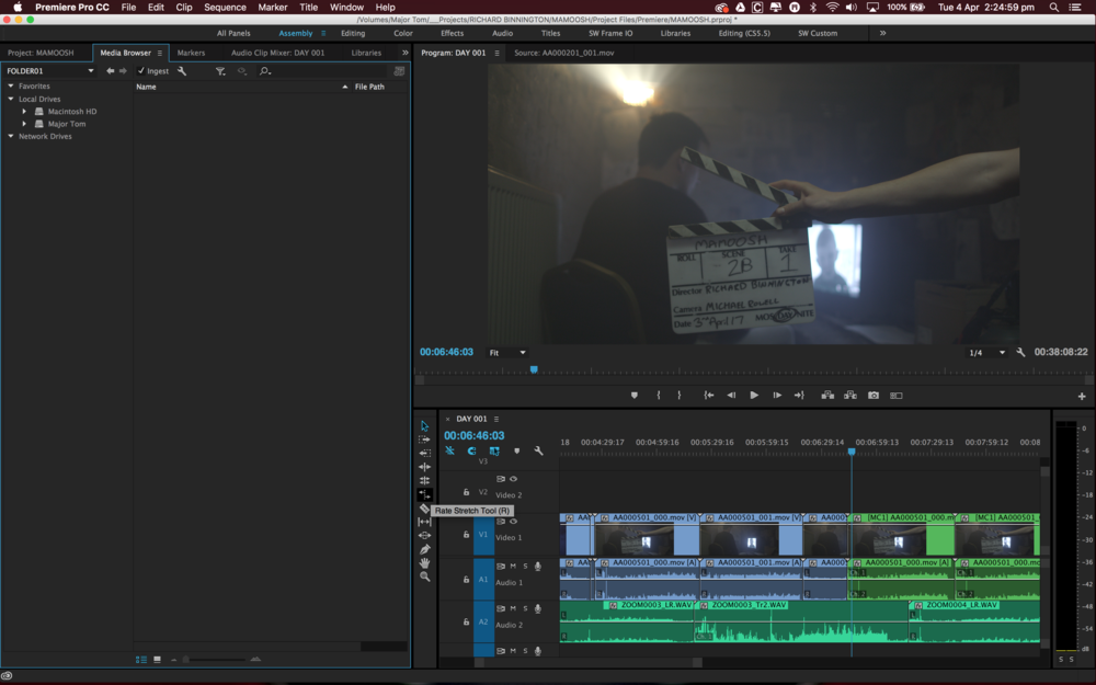 Editing on Premiere Pro CC 2015