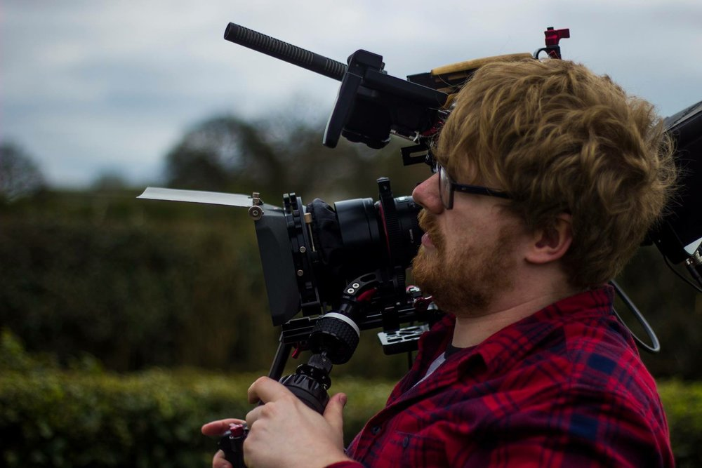 Director of Photography, Michael Rowell using the C500 on set.