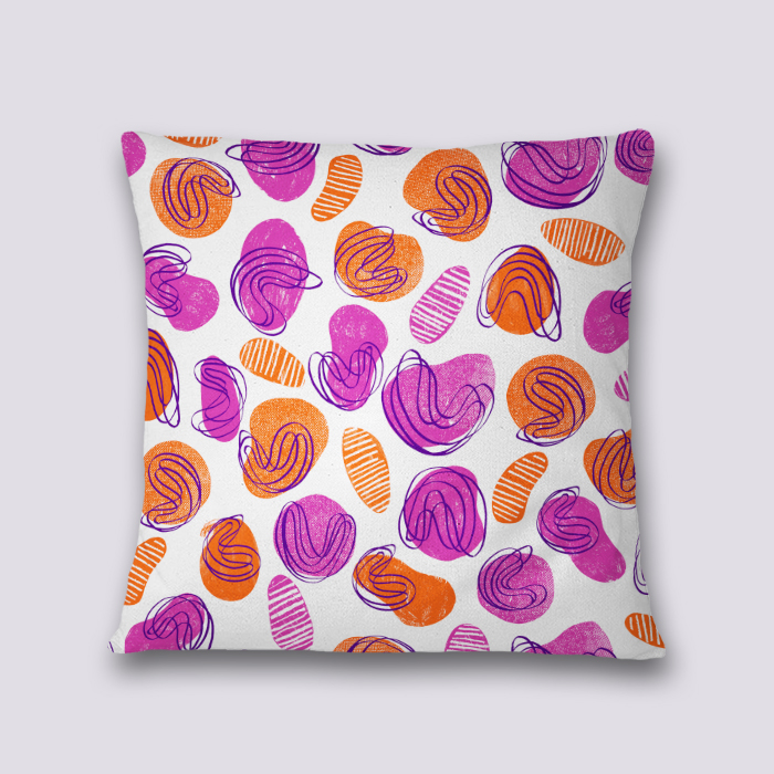 Disco pool - Throw pillow