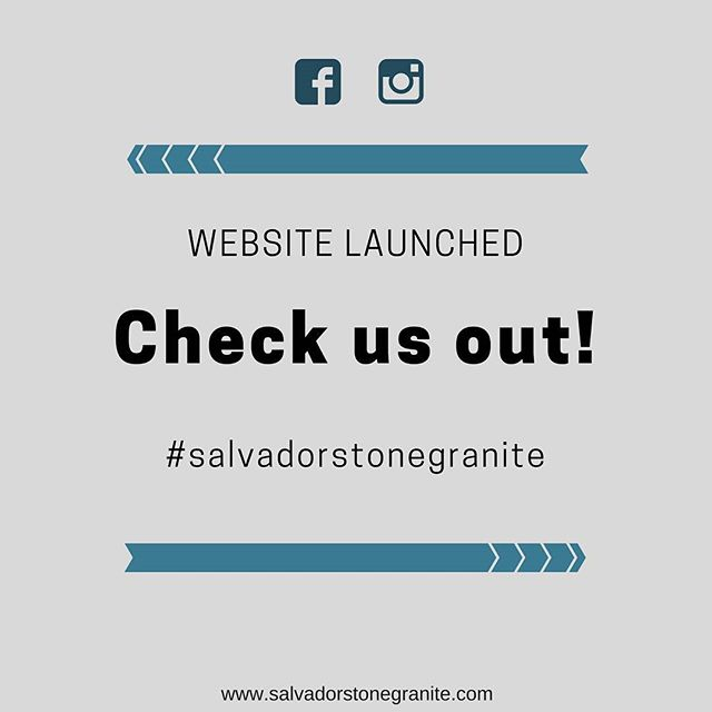 Our website has officially launched.  Come check it out!  We install granite and quartz countertops; and also maintain/repair them.  You can even order custom designed artwork or laser engravings.  Go to our website to learn more! #linkinbio  You can also like and follow us on Facebook! 👍 #salvadorstonegranite