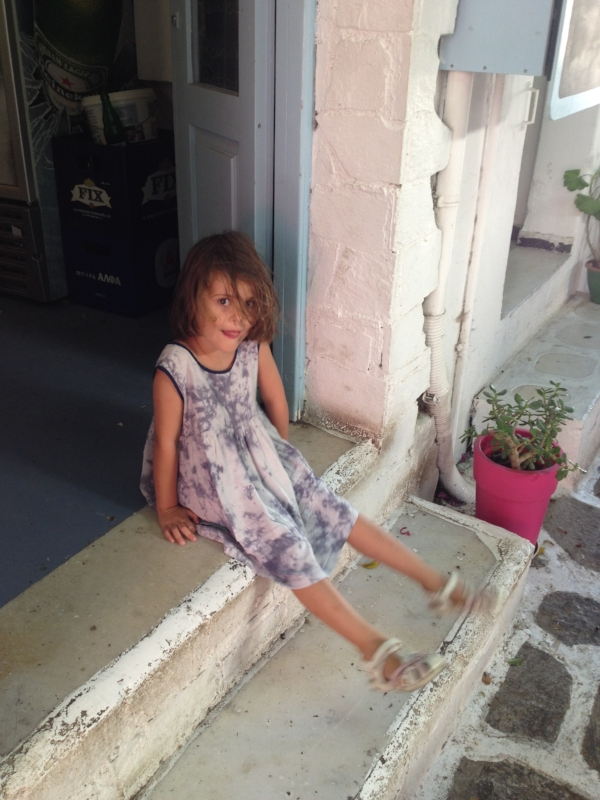 little girl on the stoop