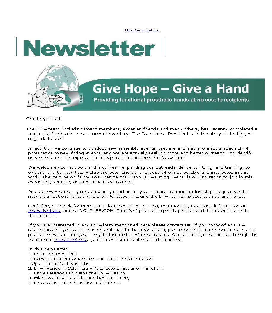 how to prepare a newsletter