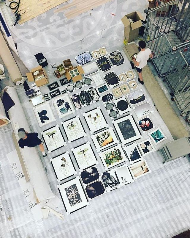 Gallery wall prep #rosieandco #drydock #Singapore #adventures