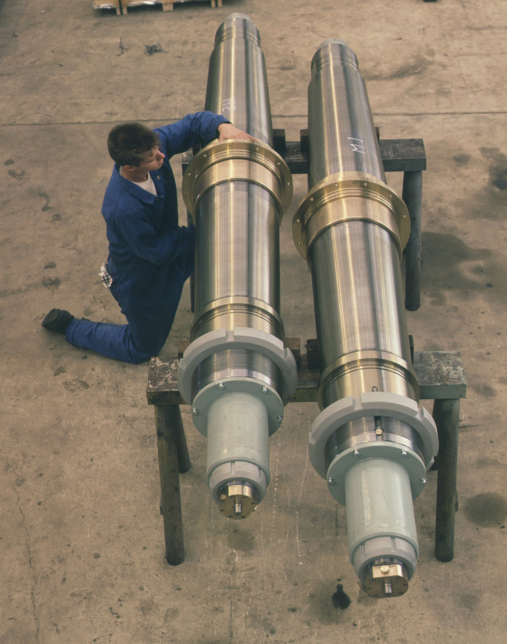 Collins Class Submarine Control Surface Shaft Assemblies