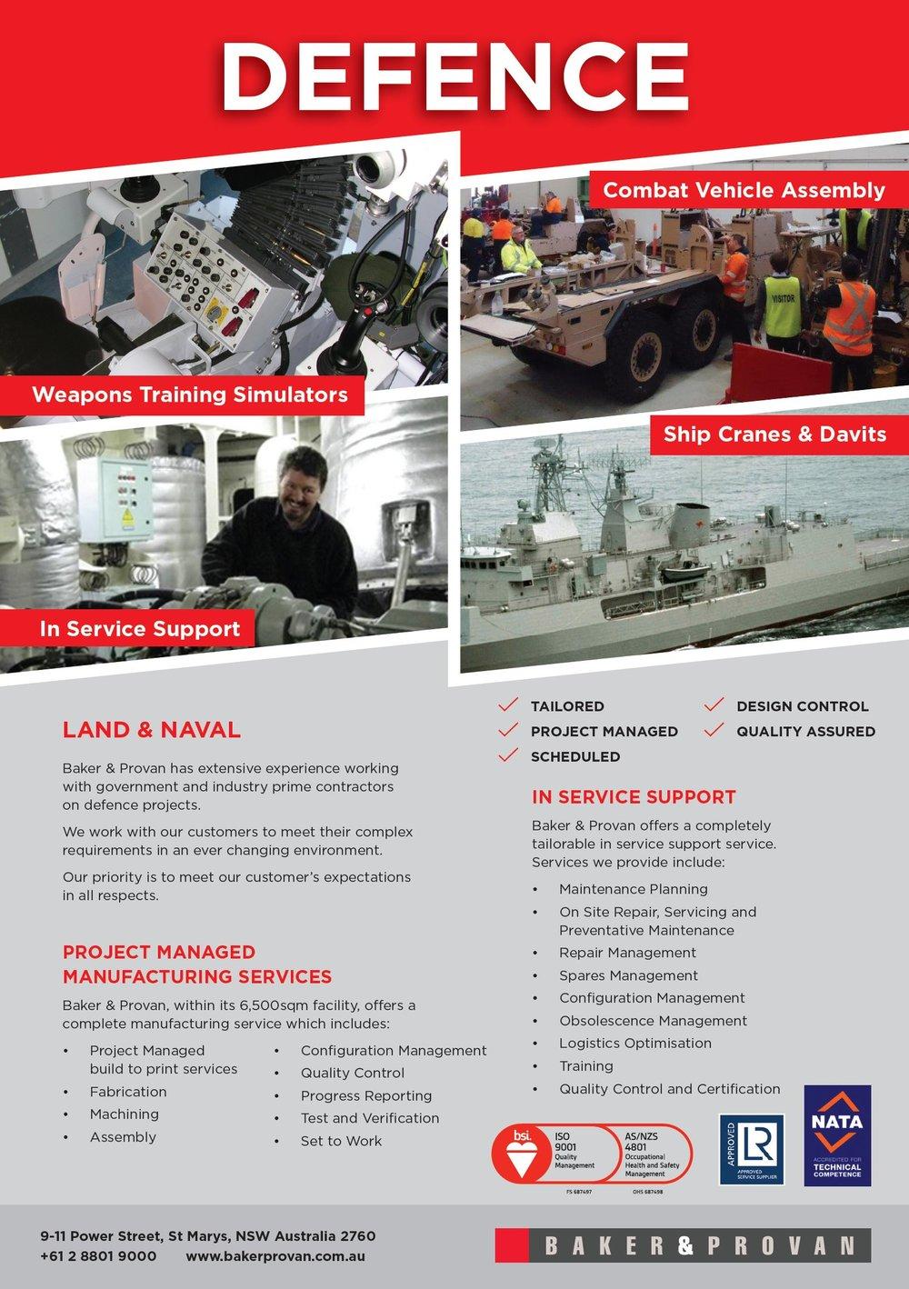 Baker & Provan Defence Brochure