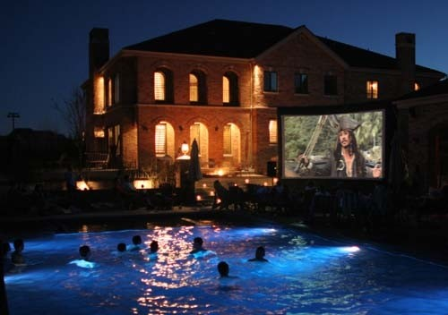 baraboo wi outdoor movie screen rental