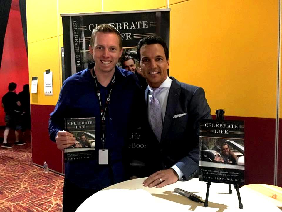 Celebrate Life author, Marcello Pedalino, at a Las Vegas book signing.