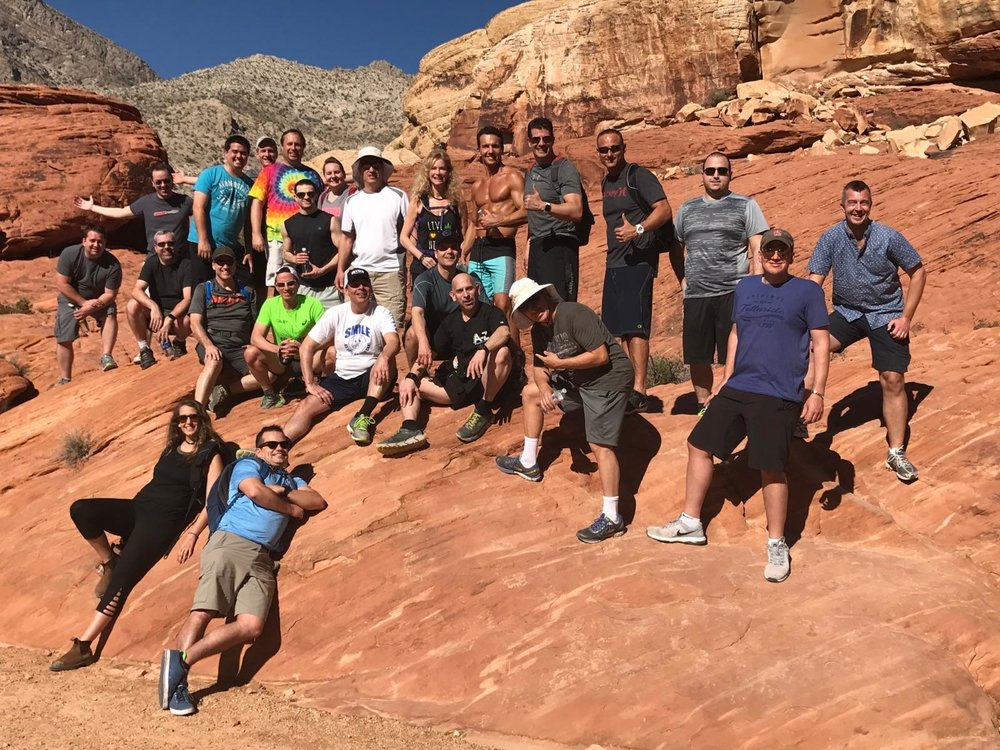 Group Fitness outing in Las Vegas with Marcello. The annual Celebrate Life® Hike at Red Rock Canyon.