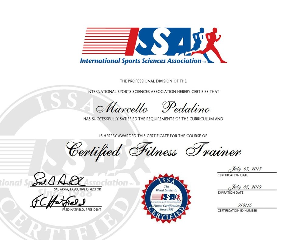 International Sports Sciences Association Recognizes Marcello
