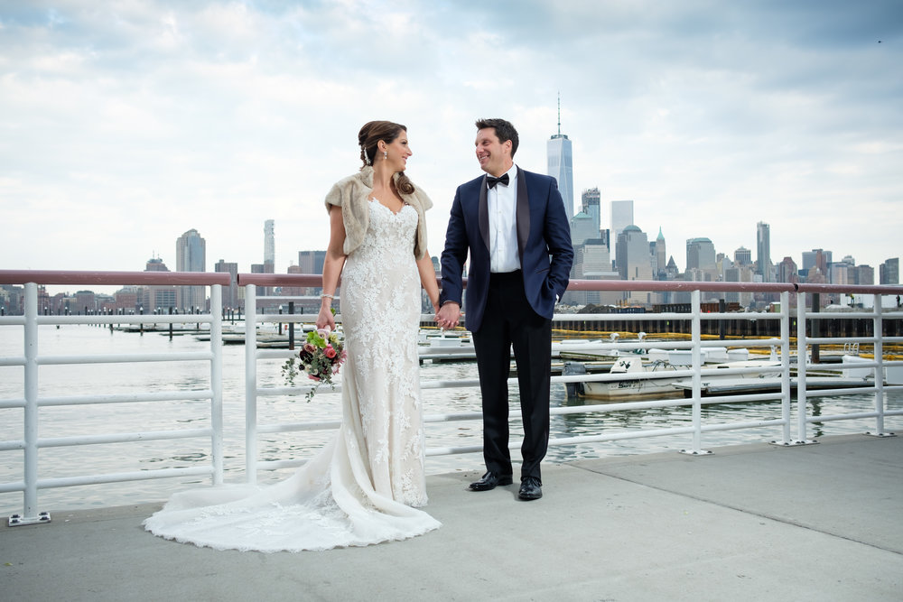 Ryan and Kelley on their Wedding Day overlooking NYC