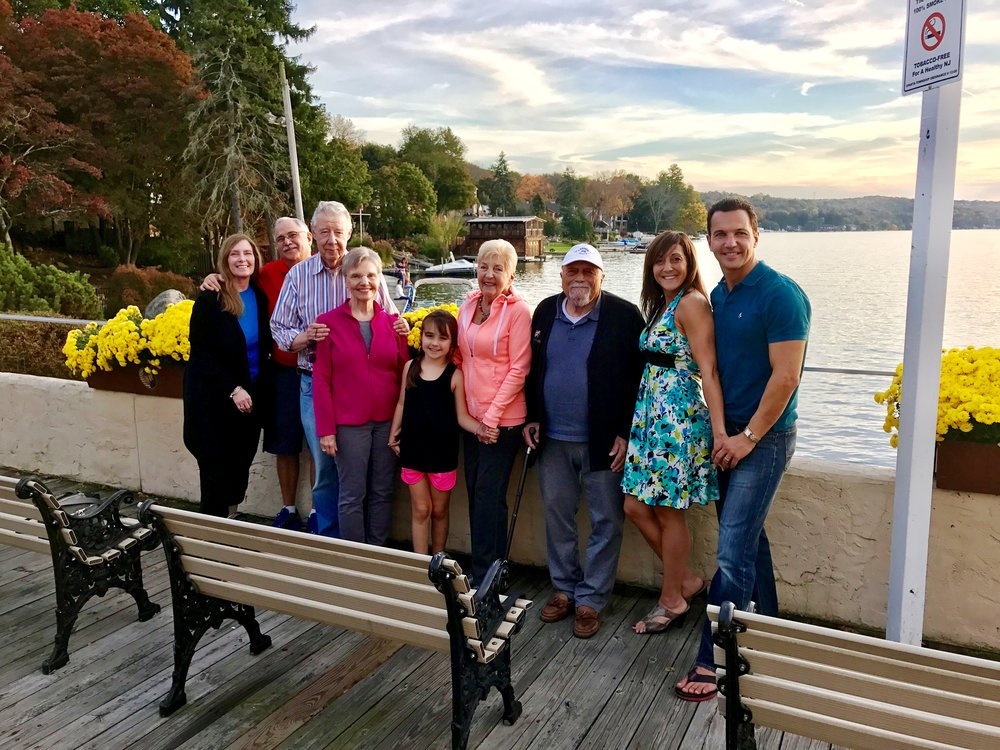 The Pedalino Family at Lake Mohawk, Sparta N.J Dr. Jill Garripoli Pedalino, Marcello Pedalino, Isabella Pedalino, Celebrate Life