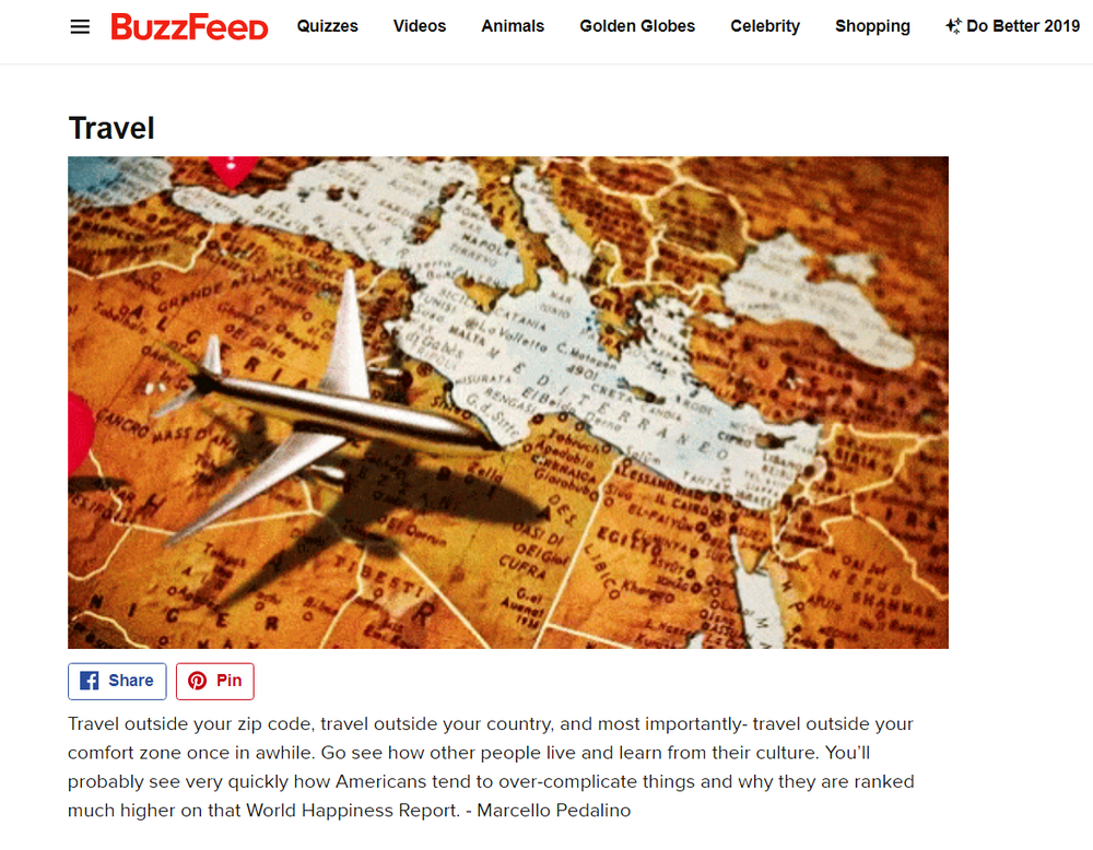 Marcello Pedalino, Buzzfeed, Travel, Celebrate Life