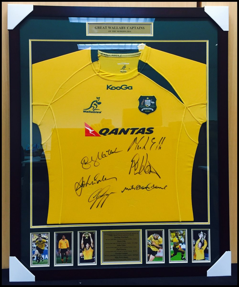 Wallabies Captains signed jersey (1 of only 6 in existence)