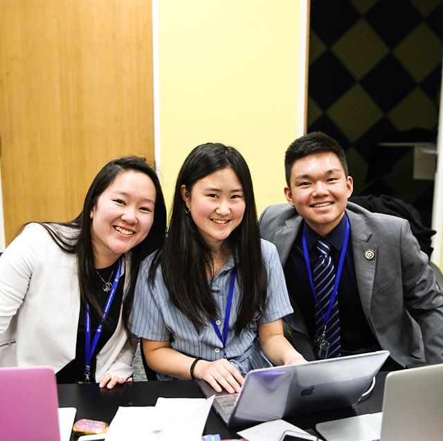 Meet our SG Anna Wei and DSGs Chloe Lim and Corey Zhou. They made this conference possible! #cissmunx