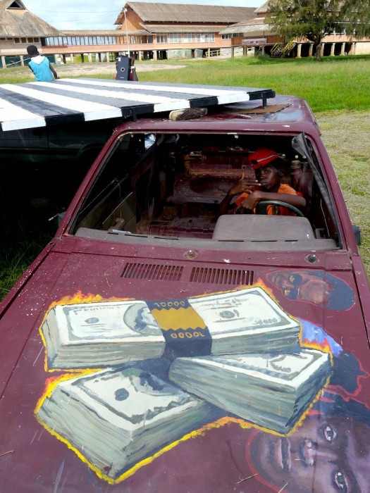 DOllar Bill Car