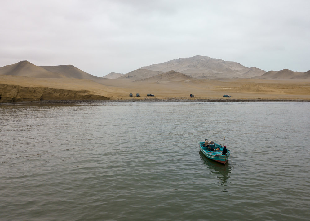 Paco inside his boat in the ocean of Paracas, Peru.   Ana Sotelo for NESsT