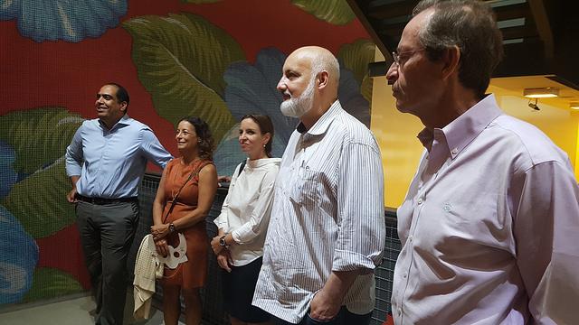 Visita dos Partners ao CRAB, no Rio. Com Oscar, Daniela, Renata, Marcio e Nick. Foto: Arquivo NESsT