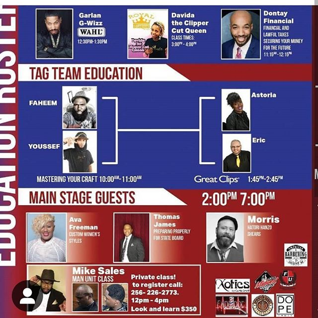 @mrstateboard Thank you for the invitation to be apart  of this platform  that can and will take attendees to that NEXT LEXEL.  If your a student @mrstateboard  has his best selling book  BLUEPRINT. Yes..... I will be asking  you WHAT'S YOUR 10YR PLAN?  @dontay_financial  has the answers for your investment questions.  Barber & Groomers there's a phenomenal  line  up awaiting  for you .  Sunday Feb 10th 2019 I will meet you there.  #Avafreemanco  #whatyour10yrplan #buildinginexcellence  #mrstateboard #blueprint  #book #hotelpreston #barbercollege #barber  #nashvillebarber #hairdresser  #vision  #visionboard  #2019 #paradigmshift