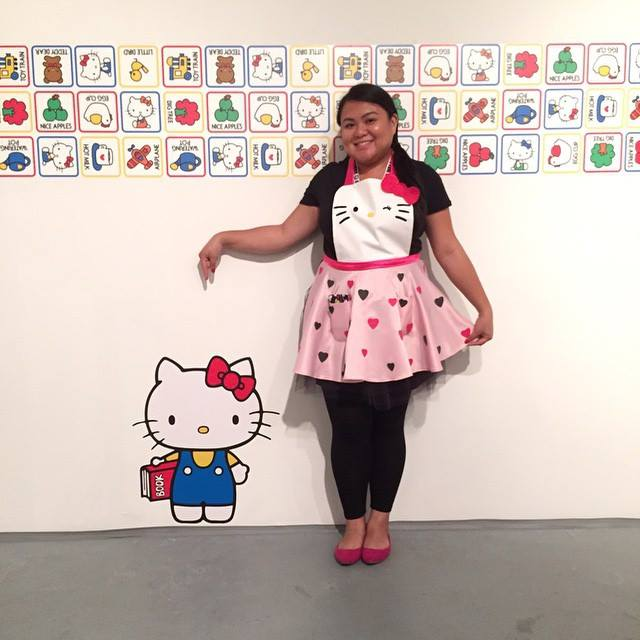 Custom Hello Kitty apron by  Dana Digrispino