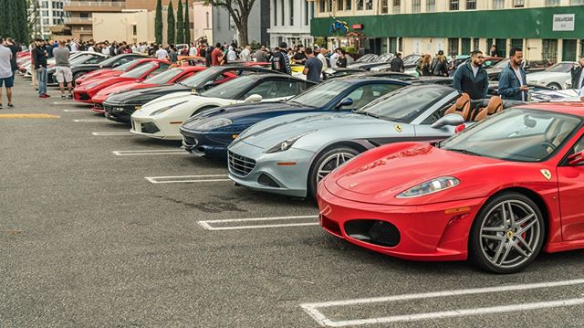 This is our #Ferrari #Lineup. Click the link in our bio to register for our next Sunset GT: Pininfarina Takeover Edition! Photo by @grubbsphotography  #SunsetGT #CarsAndCoffee #CuratorsOfTheExtraordinary #PininfarinaBeverlyHills #pininfarina #ferrari #beverlyhills #california #onlythebest