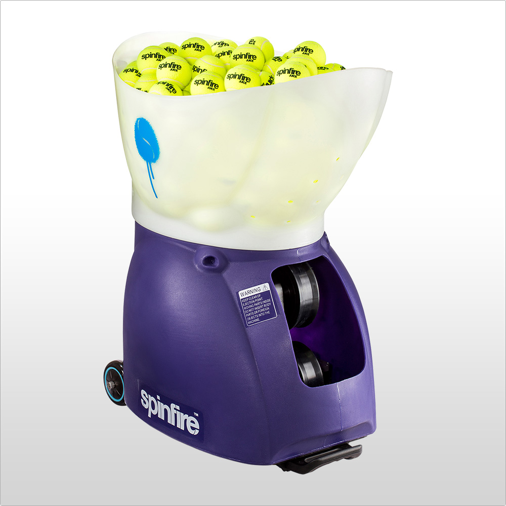 Spinfire PRO 2 Ball Machine - • Remote control• 20mph-80mph Speed Range• Extreme topspin & slice• 2 to 15 second ball interval range• 200 ball capacity• Horizontal oscillation (Medium-Wide)• Vertical oscillation