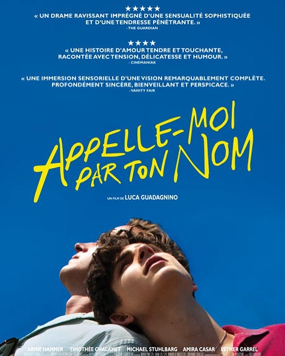 'Call me by your name'. A beautiful coming of age film by Italian director Luca Guadagnino that we highly recommend.