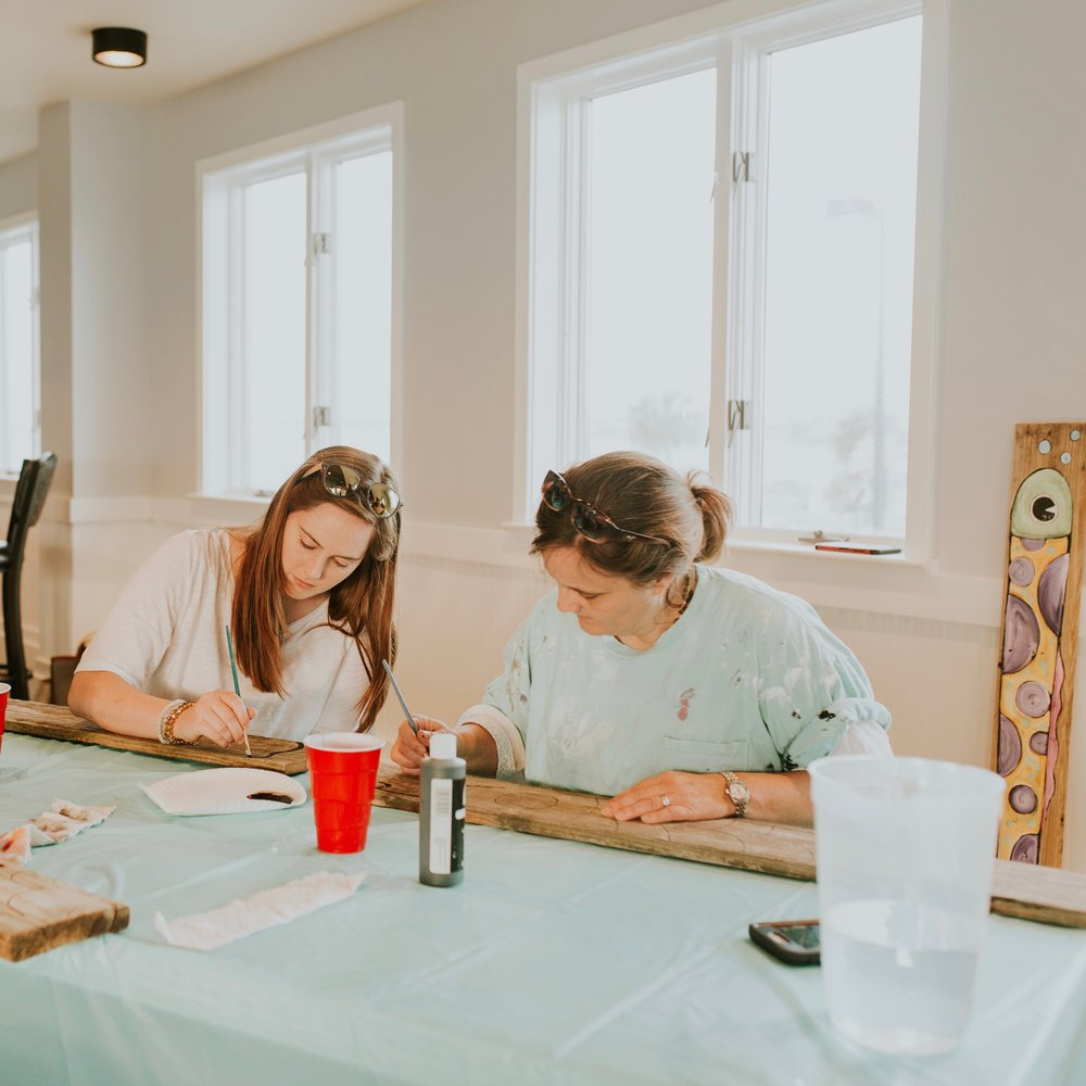 a place to create - Monthly, the Upper Room hosts a local artist who teaches a painting class for any and all creative and artistic individuals and groups. Email us and ask when the next