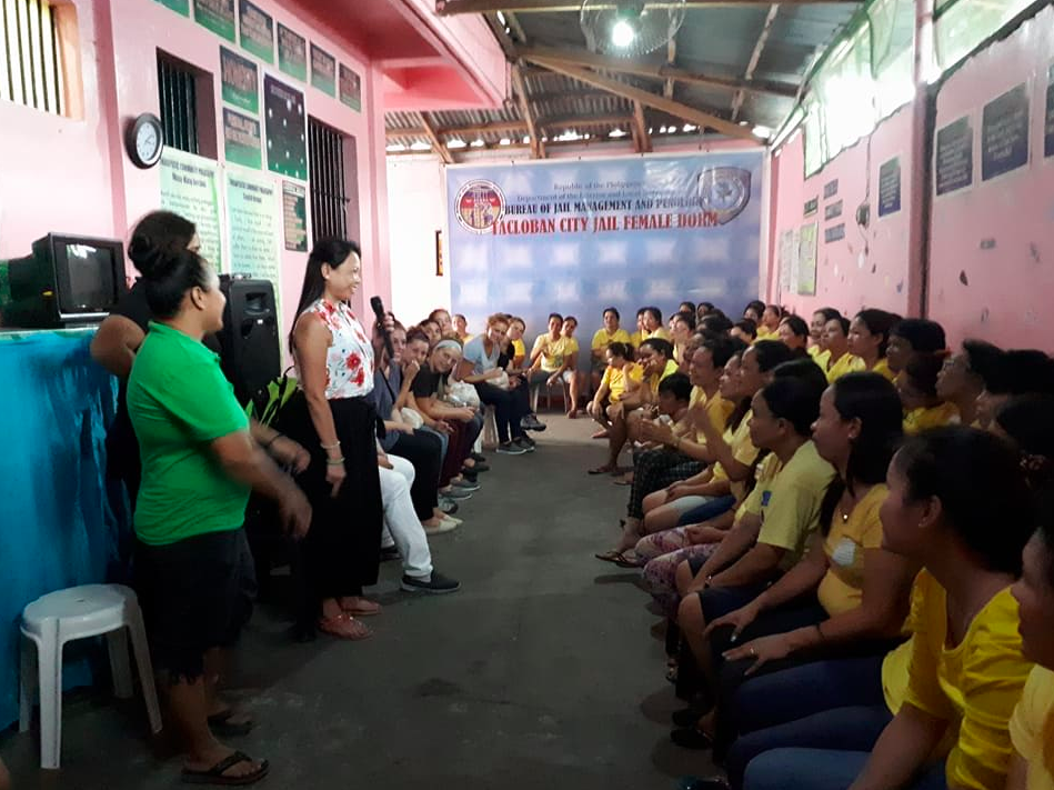 Abbey sharing in the Tacloban City women's prison on the Island of Leyte.