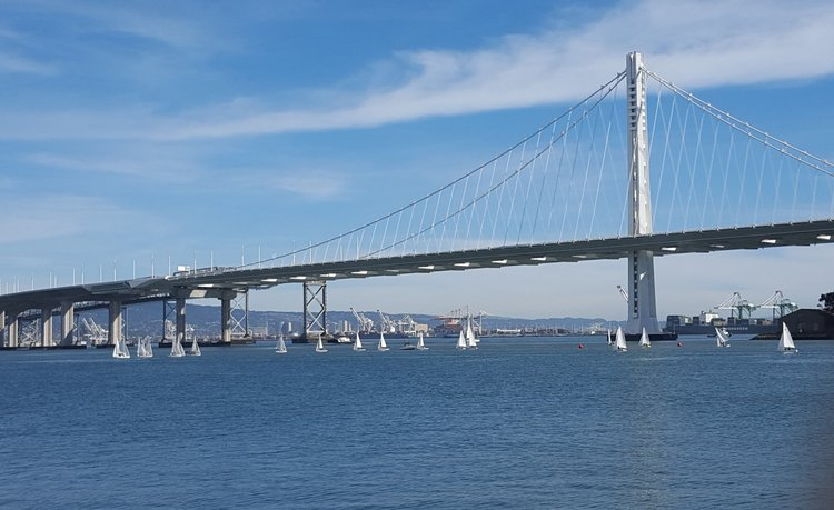 View of the eastern span of the Bay Bridge