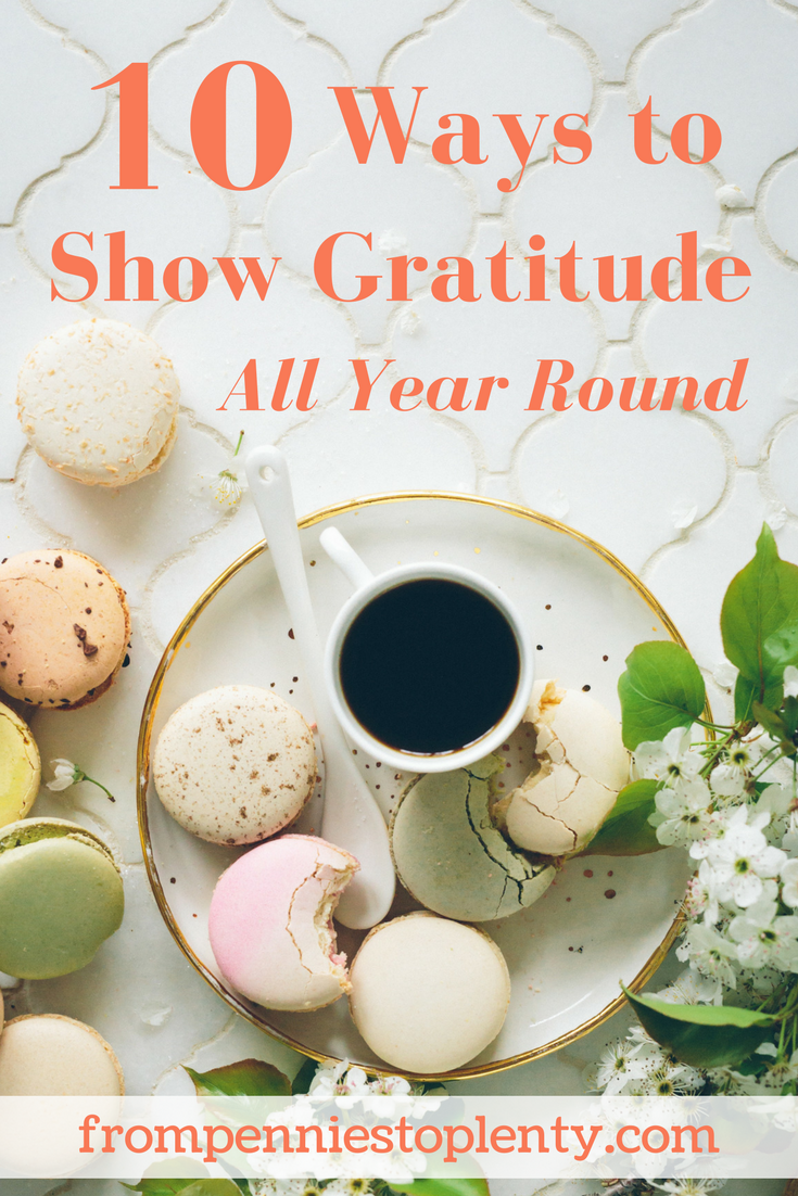 10 ways to show gratitude all year round