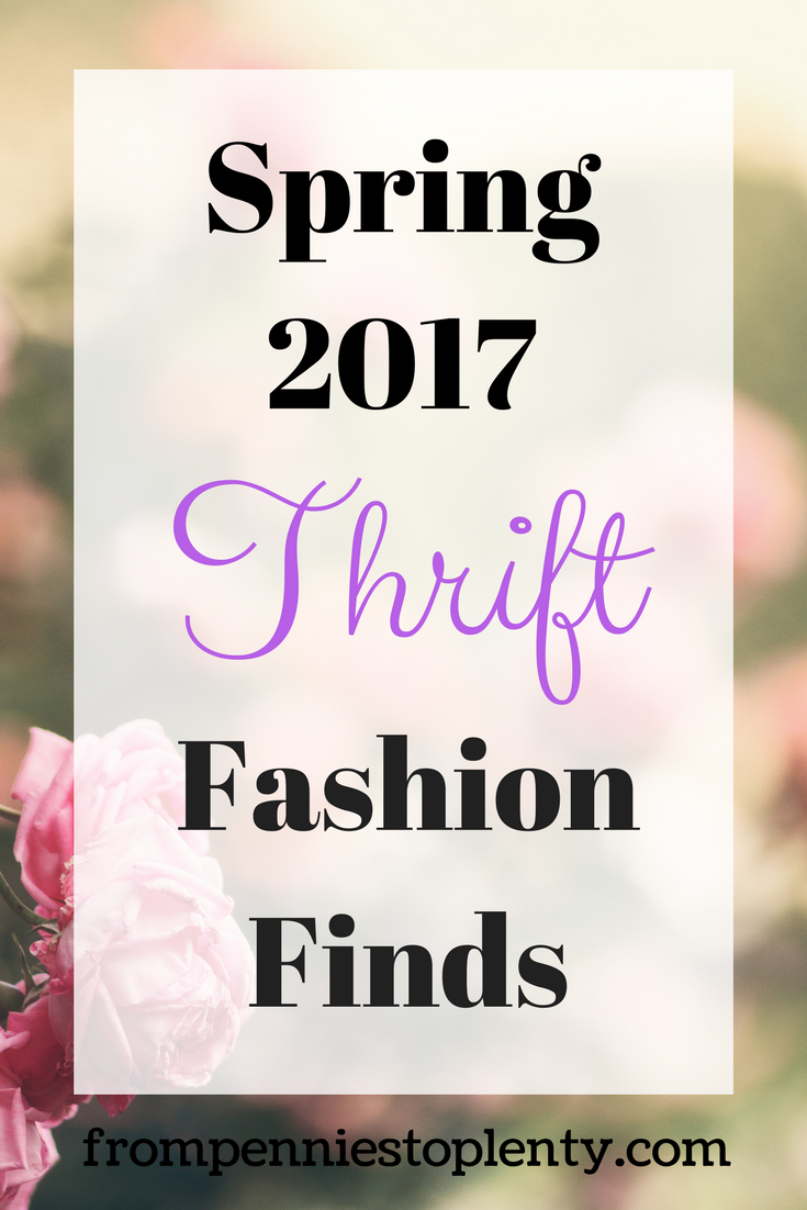 Spring 2017 Thrift Fashion Finds