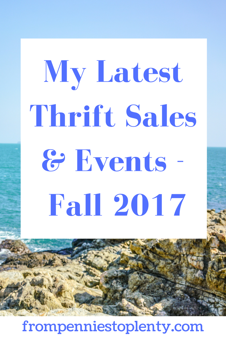 My Latest Thrift Sales & Events