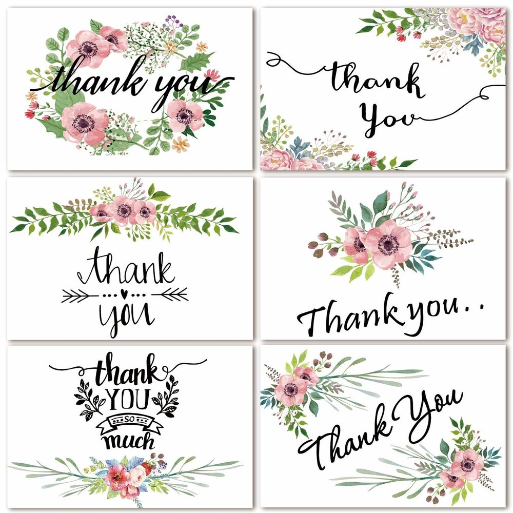 Floral thank you cards  by SUPHOUSE