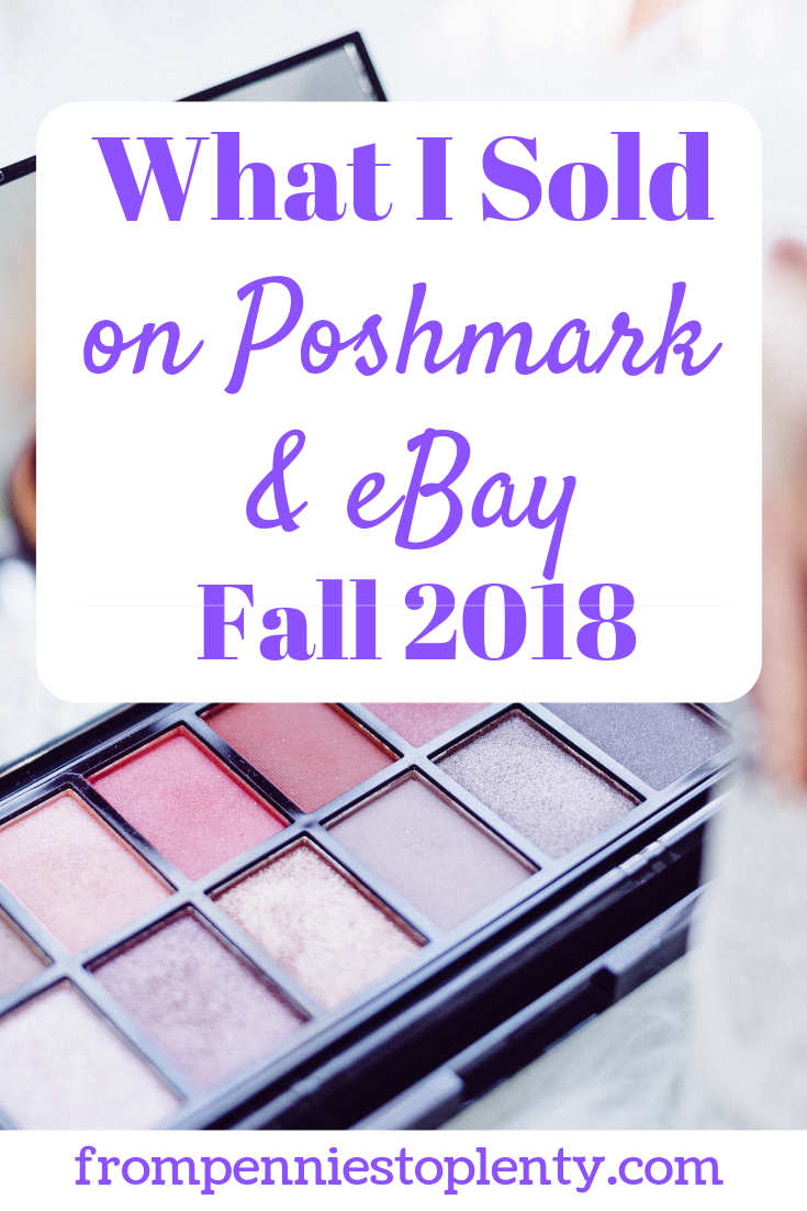 what I sold on Poshmark and eBay 2
