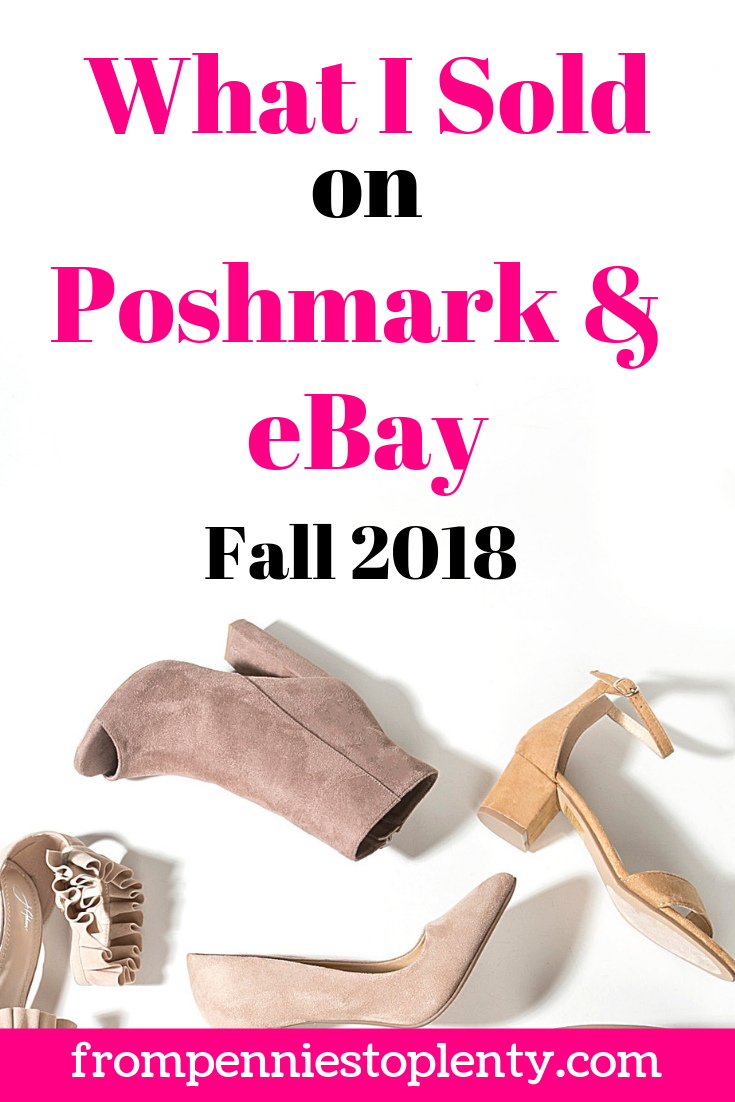 What i Sold on Poshmark and eBay pin