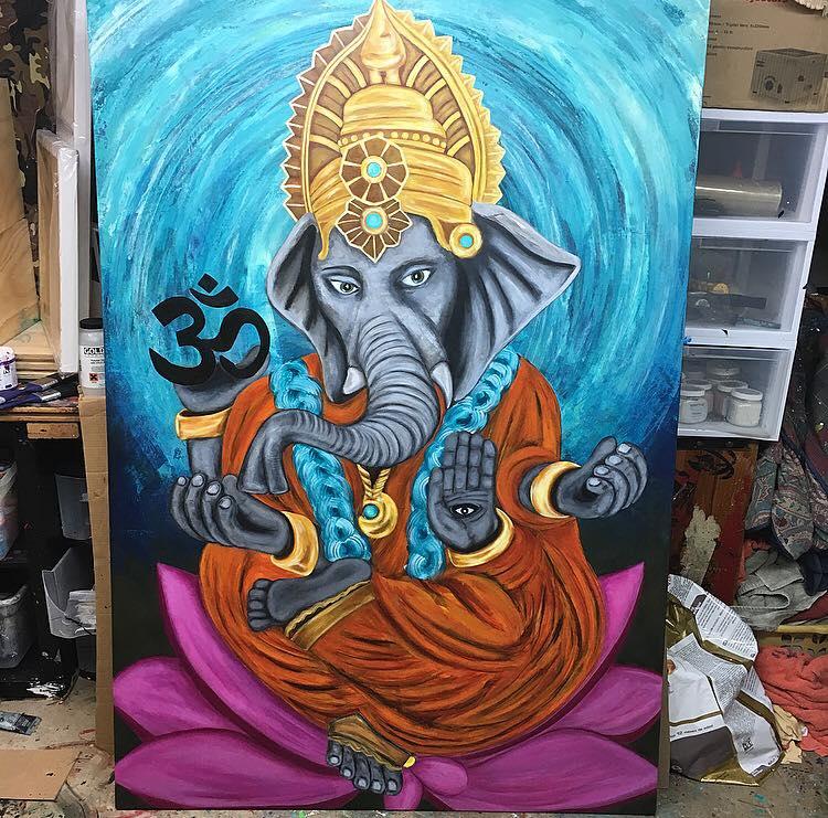 Awaken - 48x74 Canvas Commission Work