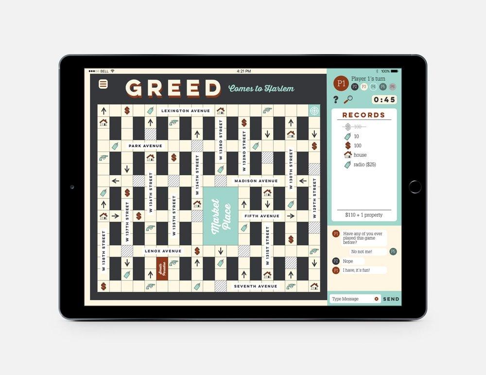 greed - ux/ui | packaging | board game